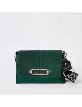 Green Thick Strap Cross Body Bag by River Island