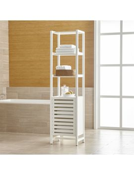 Banya White Bath Tower by Crate&Barrel