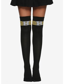 Harry Potter Hufflepuff Varsity Letter Over The Knee Socks by Hot Topic