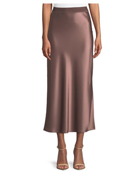 Flat Sateen A Line Maxi Slip Skirt by Theory