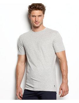 Men's Underwear, Slim Fit Classic Cotton Crews 3 Pack by Polo Ralph Lauren
