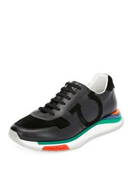 Men's Brooklyn Sneakers W/ Rainbow Sole by Salvatore Ferragamo