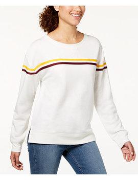 Juniors' Striped Sweatshirt by Hippie Rose
