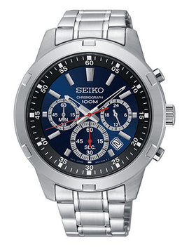 Men's Chronograph Special Value Stainless Steel Bracelet Watch 43.5mm by Seiko