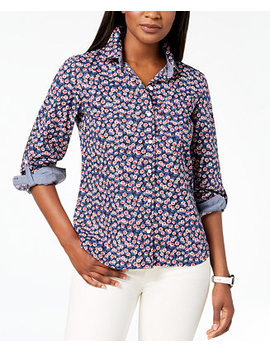 Cotton Printed Utility Shirt, Created For Macy's by Tommy Hilfiger