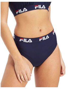 Women's Blue Tape Bikini Bottoms by Fila