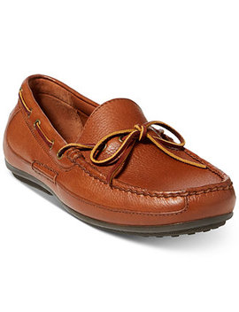 Men's Roberts Tumbled Leather Drivers by Polo Ralph Lauren