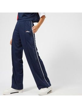 Blue Women's Neka Snap Side Flare Pants by Fila