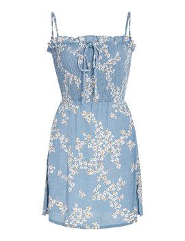 Marni Smocked Voile Mini Dress by Faithfull