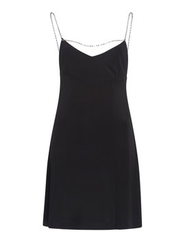 Rhinestone Detailed Jersey Mini Dress by Alexachung