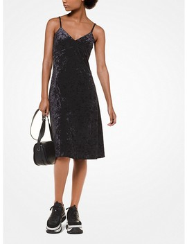 Crushed Velvet Slip Dress by Michael Michael Kors