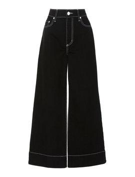 Skylar Cropped High Rise Wide Leg Jeans by Nobody Denim