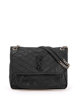 Niki Medium Monogram Ysl Shiny Waxy Quilted Shoulder Bag by Saint Laurent