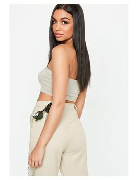 Women's Natural Beige Basic Bandeau Top by Missguided