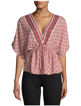 Embroidered Kimono Top by Design Lab Lord & Taylor