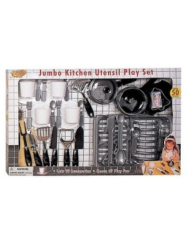 Pavlov'z Toyz 51pc Jumbo Kitchen Utensil Playset by Pavlov'z Toyz
