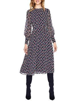 Belted Stripe Midi Dress by Boden