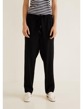 Pantaloni Largi Textură by Mango