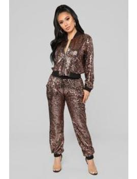 All That Glimmers Sequin Set   Bronze by Fashion Nova