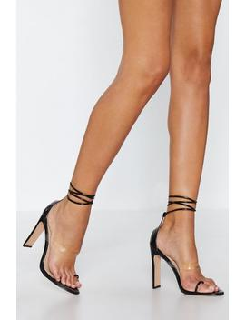 Oh Toe You Don't Tie Heel by Nasty Gal
