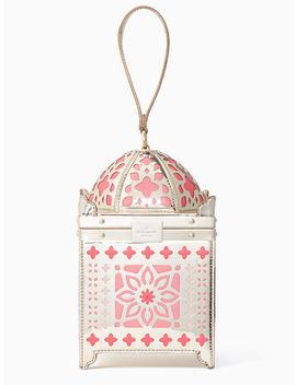 Kate Spade Rambling Roses Lantern Clutch Handbag In Rose Gold by Kate Spade New York