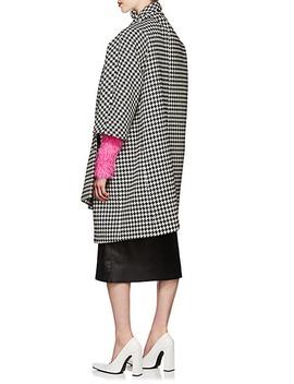 Houndstooth Weave Wool Blend Opera Coat by Balenciaga