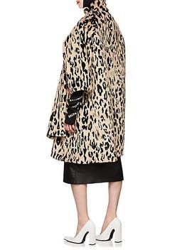 Leopard Print Faux Fur Opera Coat by Balenciaga