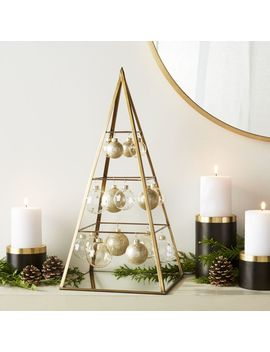 Lillian Gold Ornament Tree by Crate&Barrel