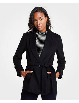 Shawl Collar Belted Coat by Ann Taylor