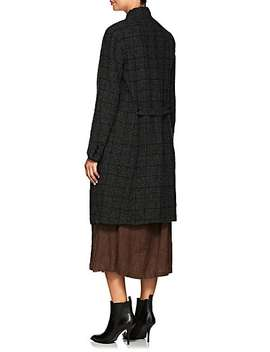 Plaid Linen Wool Hopsack Coat by Pas De Calais