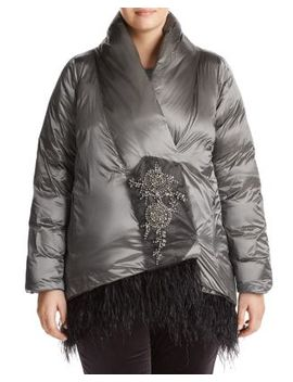 Parco Embellished Puffer Jacket by Marina Rinaldi