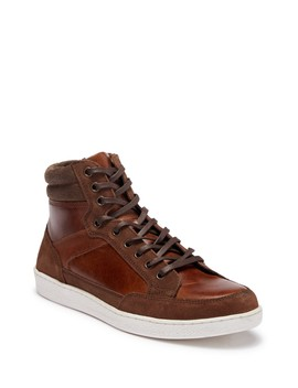 Seiler High Top Leather Sneaker by Crevo