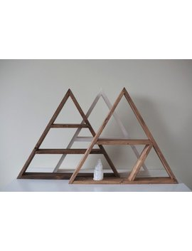 "Solid Wood Shelf 20""X 3 1/8"". Pyramid   Triangle Shape Shelf. Choose Your Design & Color. by Etsy"