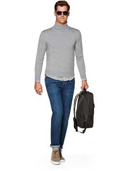Light Grey Turtleneck by Suitsupply