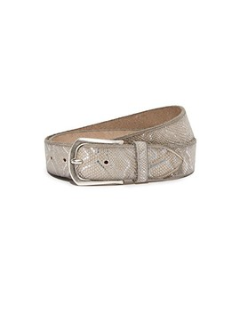 Embossed Metallic Belt by B. Belt