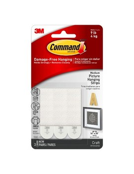 Command™ Strips 3ct   Medium Picture Hanging Strips by Command