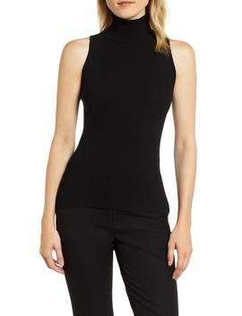Ribbed Turtleneck Shell by Anne Klein