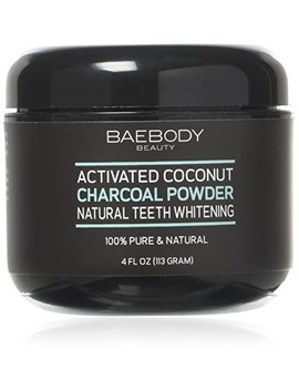 Baebody Teeth Whitening Charcoal Powder   All Natural With Activated Coconut Charcoal And Bentonite Clay.  ... by Baebody