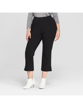 Women's Plus Size Crop Flare Pants   Prologue™ Black by Prologue™
