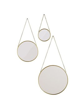 Brylane Home Nevyn Hanging Mirrors, Set Of 3 (Gold,0) by Brylane Home
