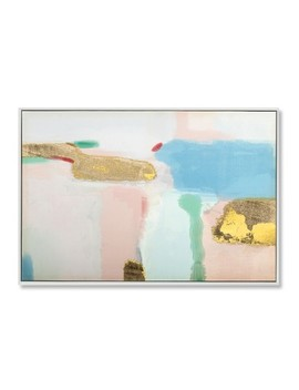 "36""X24"" Abstract Gold And Blush Framed Wall Canvas   Project 62™ by Project 62™"