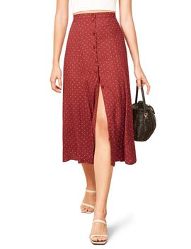 Hermosa Button Up Midi Skirt by Reformation