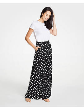 Polka Dot Drapey Pants by Ann Taylor