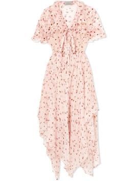 Flora Floral Print Silk Chiffon Midi Dress by Preen By Thornton Bregazzi