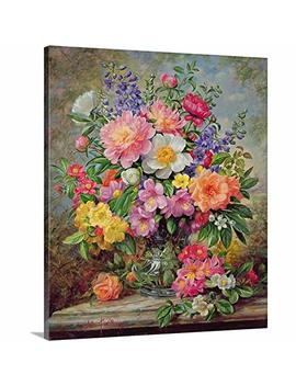 "Albert Williams Premium Thick Wrap Canvas Wall Art Print Entitled June Flowers In Radiance 20""X24"" by Canvas On Demand"