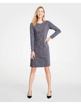 Petite Pearlized Shift Dress by Ann Taylor