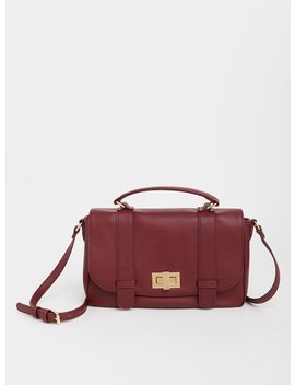 Burgundy Turn Lock Satchel by Torrid