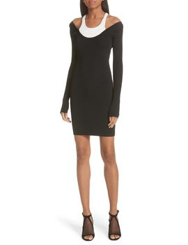 Layered Racerback Sweater Dress by T By Alexander Wang