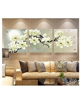 Chakit 3 Panel Modern Abstract Flower Painting On Canvas Wall Art Cuadros Flowers Picture Home Decor For Living Room No... by Amazon