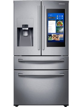 Family Hub 27.7 Cu. Ft. 4 Door French Door Refrigerator   Stainless Steel by Samsung